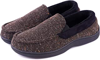 LongBay Men's Moccasin Slippers Loafer House Shoes