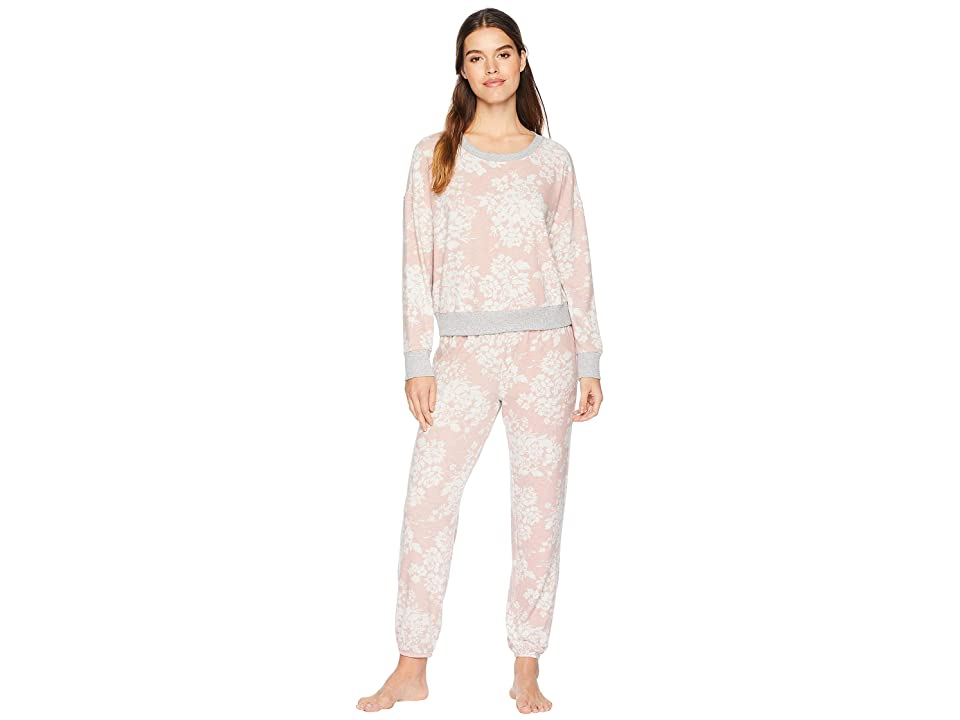 Splendid Brushed Jersey Long Sleeve PJ Set (Winter Blossom) Women