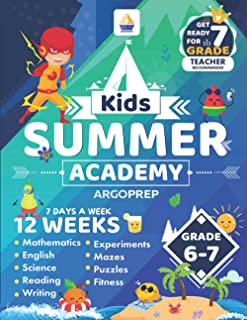 Kids Summer Academy by ArgoPrep - Grades 6-7: 12 Weeks of Math, Reading, Science, Logic, Fitness and Yoga | Online Access ...