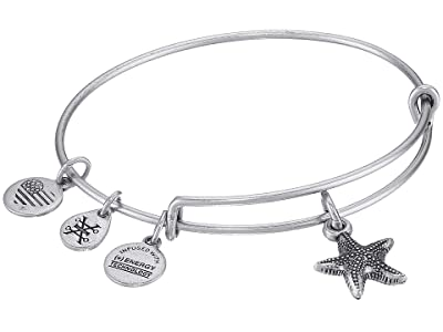 Alex and Ani Seaside Starfish II Bangle (Rafaelian Silver) Bracelet