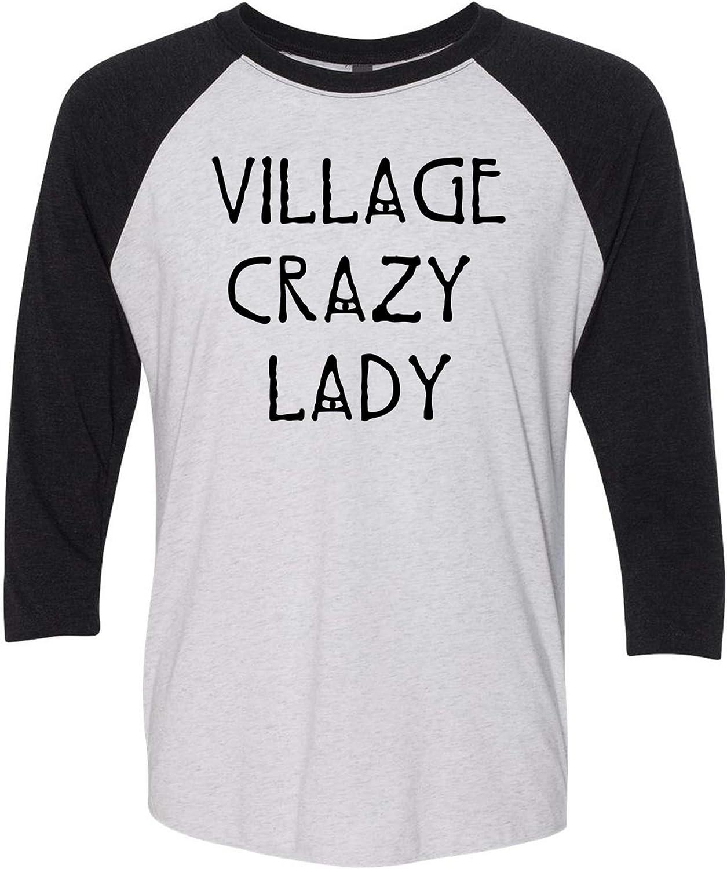 ZJ Designs The Village Crazy Lady - Baseball Raglan, Ladies Quote - Tattoo Grandma, That's My Job - Tribal Manatee