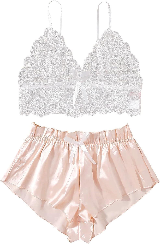 Sayhi Satin Bralette Top Rare and Shorts Set Special Campaign Wome Pajamas Silk Pajama