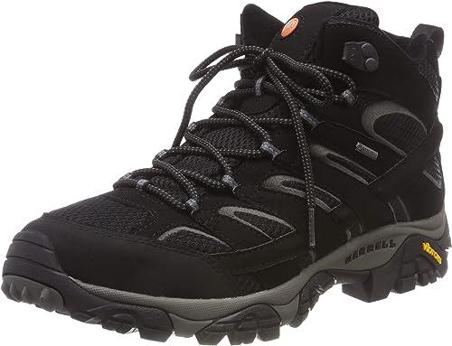 Merrell Moab 2 Mid GTX, Chaussures de Randonnée Hautes Femme, Noir noir, 43 EU