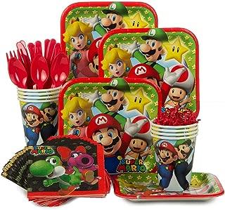 Costume SuperCenter Mario Bros. Standard Birthday Party Supplies Tableware Kit