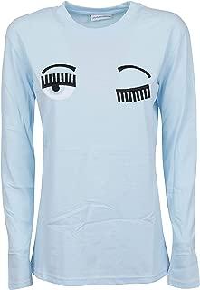 CHIARA FERRAGNI Luxury Fashion Womens CFT057LSKY Light Blue T-Shirt | Fall Winter 19