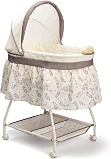 Delta Children Deluxe Sweet Beginnings Bedside Bassinet – Portable Crib with Lights..