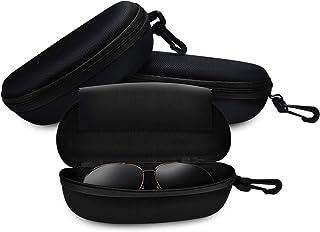 ZZ Sanity (3PCS) Portable Travel Zipper Sunglasses Hard Case Eyes Glasses Box Bag
