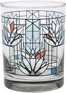 Frank Lloyd Wright Waterlilies Drinking Glass Tumblers - Set of 2 Collectible Beverage Cups