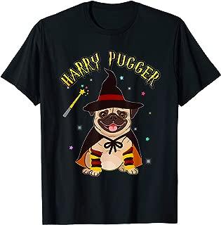 Funny Harry Pugger Magic Wizard Pug T shirt Pug Dog Gift