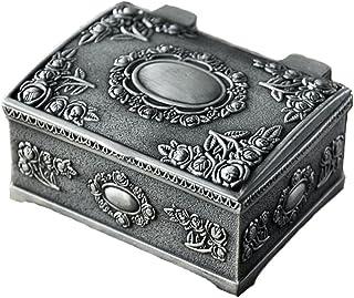 Belons, joyero rectangular, caja de bisutería, estuche tallado, caja para guardar joyas para mujeres, niñas, niños.