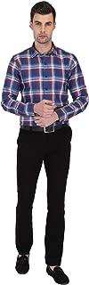 Indicolours Slim Fit Blue Checks Full Sleeve Shirt