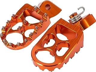 Wang shufang 1pair CNC Large billettes Moto Repose-Pieds Repose-Pieds pédales arrière Noir Bleu Orange Fit for Yamaha (Cou...
