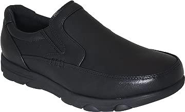 Gelato Men's Moc Toe Slip & Oil Resistant Comfort Work Shoe with Water & Stain Resistant Upper