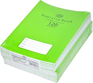 FIS Exercise Books 15 mm Square with Left Margin, 120 Pages, Pack of 12 Pieces, 16.5 x 21 cm Size - FSEBSQ15120N