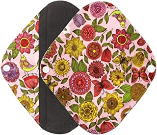 Kireina Protection Anti-menstruelle r/éutilisable dallergie Protection sanitaire de Tissu de doublures de Culotte de Culotte Lavable de Preuve de Tache 6PCS avec la Poche de Sac Humide 1PC