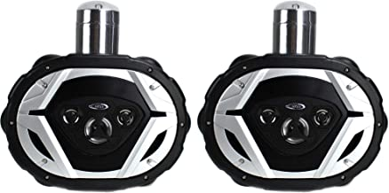 "$183 » BOSS MRWT69 6x9"" 1100W 4-Way Waketower Waterproof Boat Marine Speaker Set, Black"