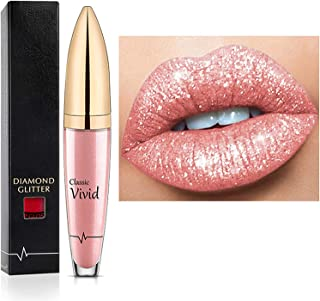 18 Color Diamond Shiny Long Lasting Lipstick,Metallic Liquid Lipstick, Easy to Apply and Clean,Long-Lasting and Waterproof,Non-Stick Diamond Shining Lip Glaze Gift for Women and Girls (05)