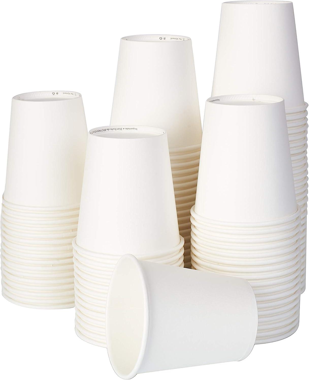 ECO BRO 100/200/500/1000/2000/3000 Piezas Vasos De Papel Biodegradables Compostables Ecológicos 200 ml Desechables para Agua Bebidas Calientes y fría (1000)