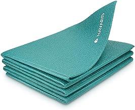 Navaris opvouwbare yogamat voor op reis - 4 mm dikke sportmat - Antislip fitnessmat voor yoga, pilates en fitness - Geschi...