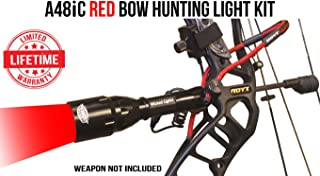 Wicked Lights A48iC Red Bow Hunting Light Kit for Bow Fishing, Predator & Hog Night Hunting