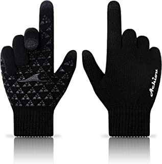 Achiou Winter Knit Gloves Touchscreen Warm Thermal Soft...