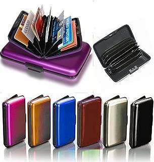 Aluminum Aluma Hard Case Credit Cards Wallet (Assorted 6 Pack)