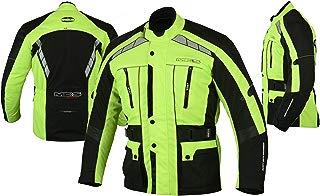 MBS MJ21 James Motocicleta Motocicleta larga chaqueta de viaje textil (amarillo, 3XL)