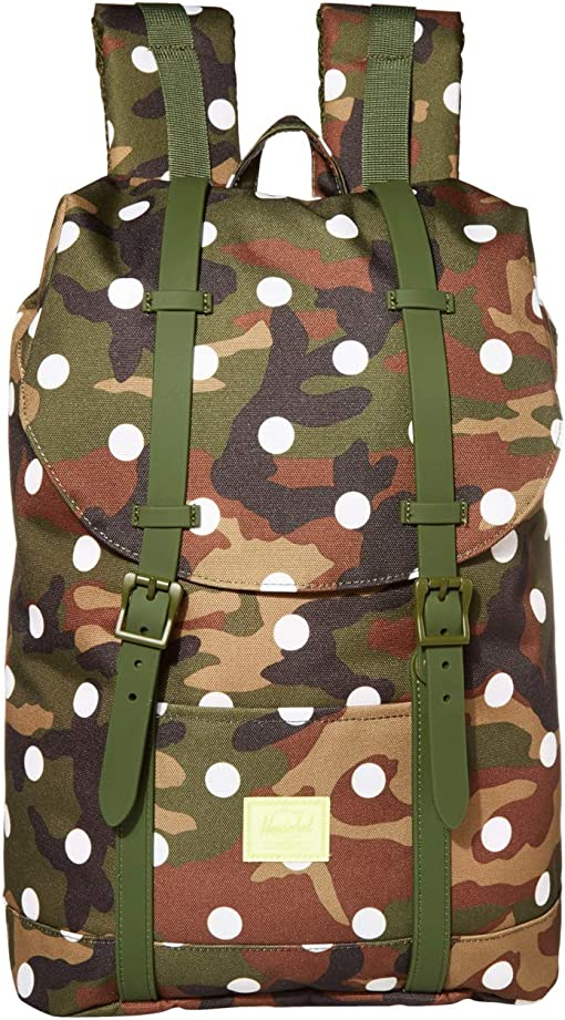 Woodland Camo White Dot