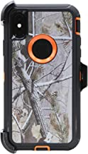 WallSkiN Turtle Series Cases for iPhone Xs/iPhone X (Only) Tough Protection with Kickstand & Holster - Pinus (Tree Bough/Orange)