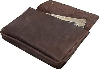 Genuine A4 Size Vintage Leather Folder, Document Holder, Office Paper File case,Leather Folder for Papers and documents, Leather Folio, Portfolio, Business Gift (Brown)