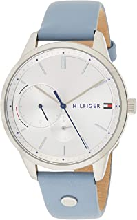 Tommy Hilfiger Womens Quartz Watch, Analog Display and Leather Strap 1782023