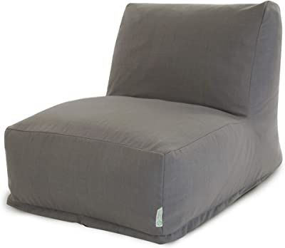 Majestic Home Goods Wales Bean Bag Chair Lounger, Gray