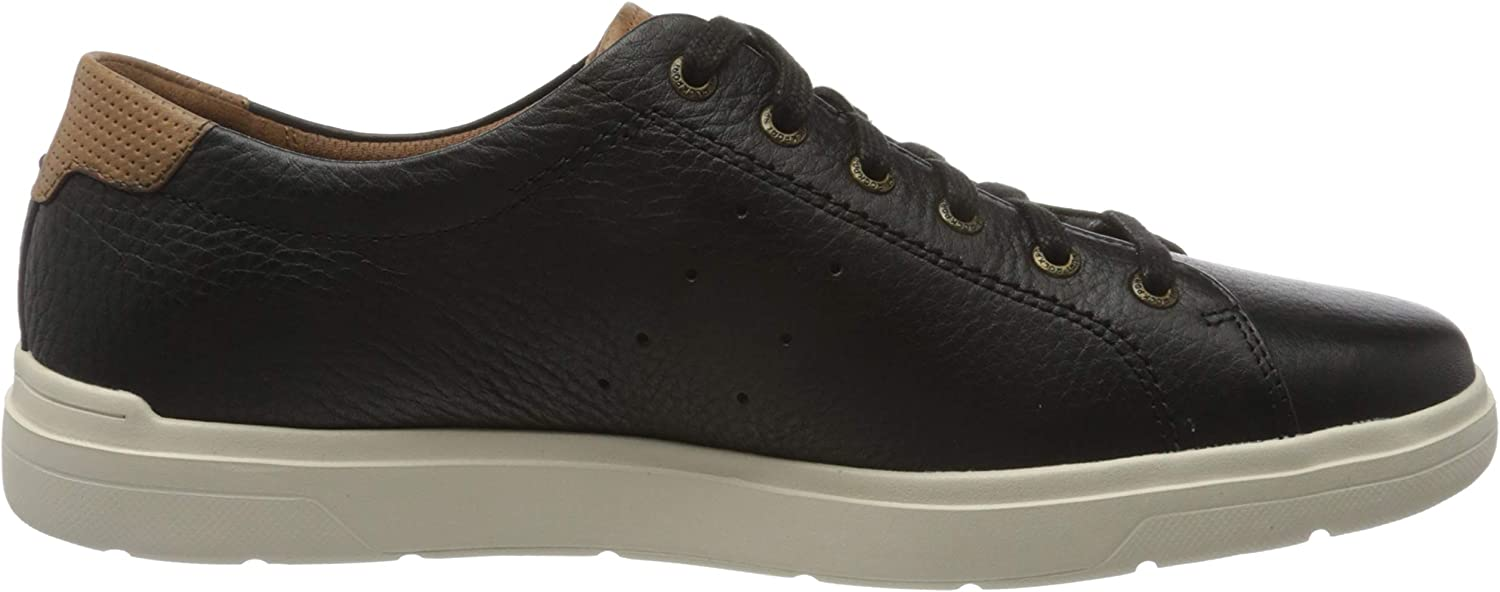 Rockport Men's Total Motion Lite Lace to Toe Trainer Black Black 003