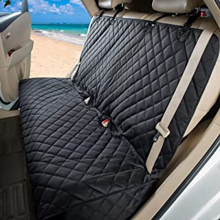 GELOO Bench Car Seat Cover Protector Waterproof, Dog Car Seat Cover for Back Seat, Heavy-Duty and Nonslip Pet Seat Covers, Universal Size Fits for Cars Trucks and SUVs
