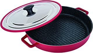 MasterPan Non-Stick Stovetop Oven Grill Pan with Heat-in Steam-Out Lid, nonstick cookware, 12