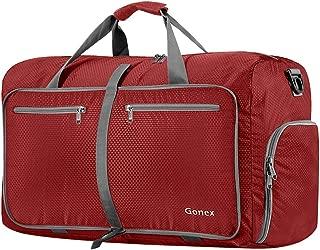 Gonex 60L Foldable Travel Duffel Bag Water & Tear Resistant, Red