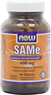 Now Foods Sam-E 400mg - 60 Count (Pack of 2)