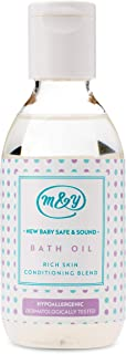 Mum & You New Baby Safe & Sound Bath Oil, 1 ea (3.38 fl oz), Gentle for Newborns and Sensitive Skin. Formulated Without Major Allergens. Mildly Scented, Rich Skin Conditioning Blend