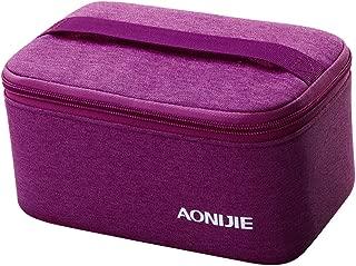 Baoblaze Toiletry Bag Clear Makeup Travel Airline Organizer Storage Zipper Waterproof Cosmetic Bag Carry Pouch - Purple, 21.5x13x10cm