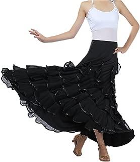 Elegant Ballroom Dancing Latin Dance Party Long Swing Race Skirt