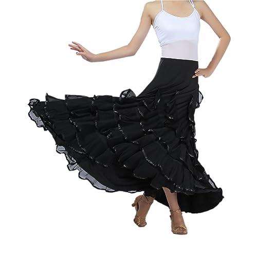 c4953008d66e CISMARK Elegant Ballroom Dancing Latin Dance Party Long Swing Race Skirt
