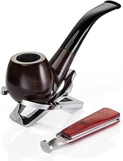 A.P. Donovan - El tabaco de pipa Conjunto hecho a mano (con tubos de acero inoxidable Soporte) - para filtros de 9 mm - Eben-madera (Itzamná)