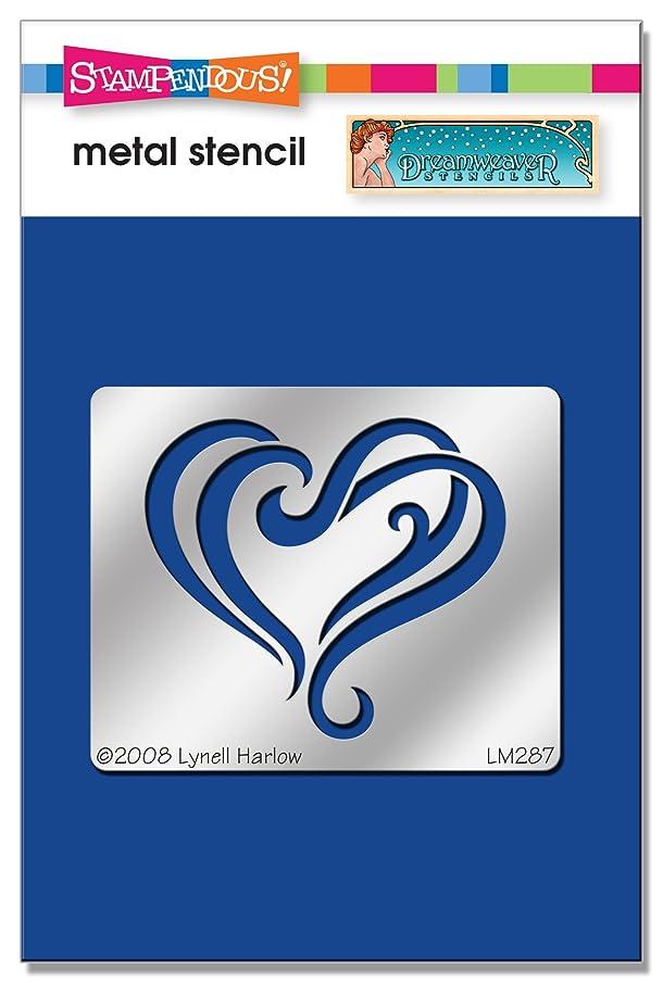 Stampendous DWLM287 Heart Flourish Dreamweaver Stencil
