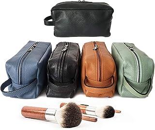 Ganza Roma Pochette Beauty case da viaggio in vera pelle nera uomo donna Modello Tommy Handmade