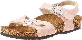 Birkenstock Sandales Rio Birko-Flor Glitter Pink, Fille