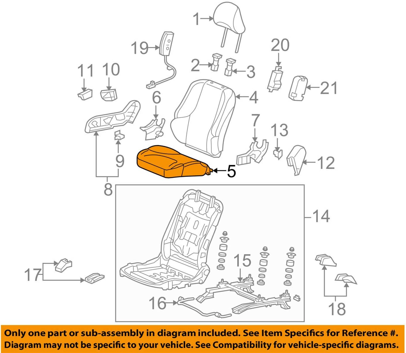 Honda Genuine 81137-TK6-A01ZB low-pricing Seat and Pad Cushion Trim It is very popular