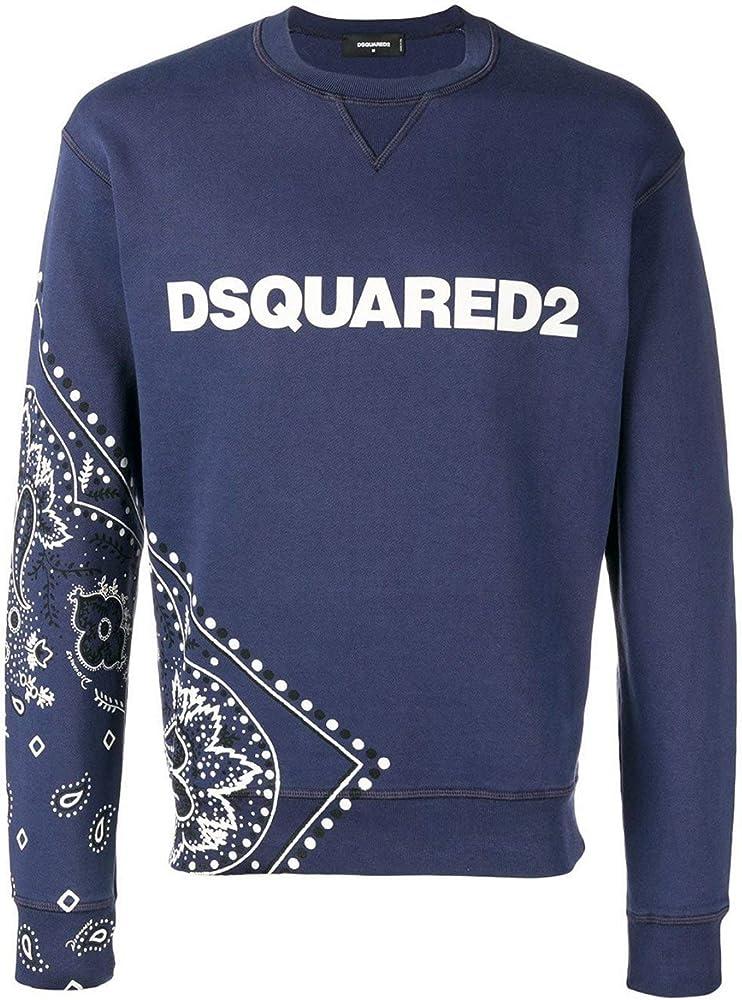 Dsquared2 felpa maglieta da uomo a maniche lunghe 100% cotone 3883_34811
