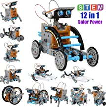 YIISUN Solar Robot Science-Experiment-Toy ABC-Learning-Toys – Solar Powered Motorized Engine and Gears 190 Piece 12-in-1 STEM Toys for Kids 10+