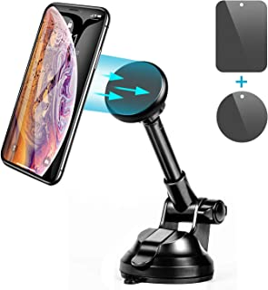 Amoner Car Phone Holder, Magnetic Car Mount Phone Holder for Car Dashboard Windshield Compatible with iPhone Xs XS Max XR X 8 8 Plus 7 7 Plus SE 6s 6 Plus 6 Galaxy Note S10 S9 S8 S7 S6 S5 and More