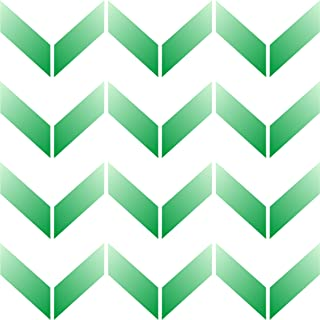 "Chevron Wall Stencil - (size 10.5""w x 10.5""h) Reusable Wall Stencils for Painting - Best Quality Allover Wallpaper ideas - Use on Walls, Floors, Fabrics, Glass, Wood, Terracotta, and More……"